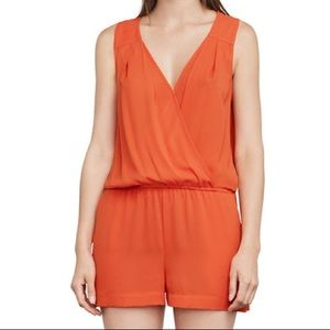 Thalia Pleated Romper Tangier